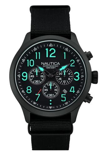 NAUTICA black Nautica Race NCC 01 Black Leather Strap NA146AC59OBSSG_1
