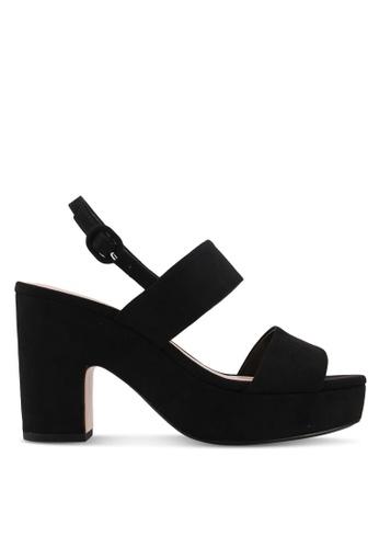 Mango black Platform Strap Sandals 93574SH67E367BGS_1