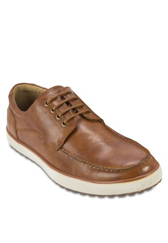 XANDRA 繫帶仿皮休閒鞋, esprit taiwan鞋, 鞋