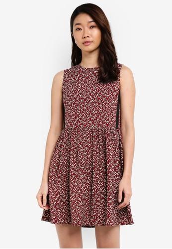 ZALORA red Contrast Side Stripe Dress 173E4AABD3FA4FGS_1