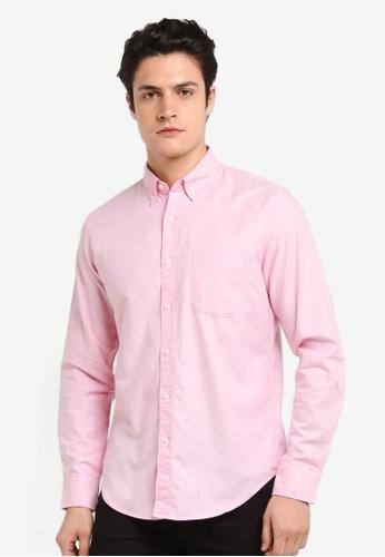 J.Crew pink Men's Slim Stretch Oxford Cloth 58F1AAAE7BF8EDGS_1