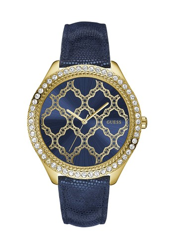 Guess Watch blue Guess Jam Tangan Wanita - Blue Gold - Leather Strap -  W0579L6 69D29AC74A4222GS 1 8dd300bc78