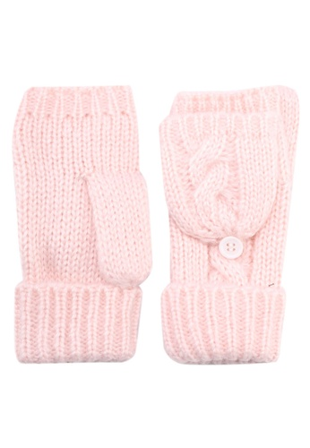 Miss Selfridge pink Fingerless Gloves 774BCACBF6D311GS_1