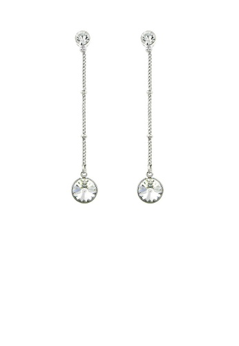 Glamorousky silver Graceful Round Earrings with Silver Austrian Element Crystal DDEA9AC57A011FGS_1