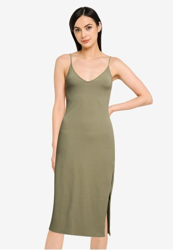 Abercrombie & Fitch green Seamless Knit Midi Dress 3029BAA5E370D4GS_1