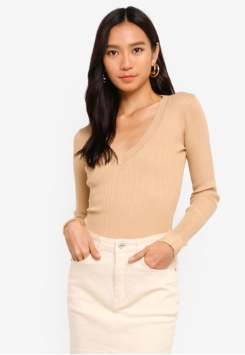 7aebf7f650 Buy MISSGUIDED Ultimate Plunge Knitted Bodysuit Online on ZALORA Singapore