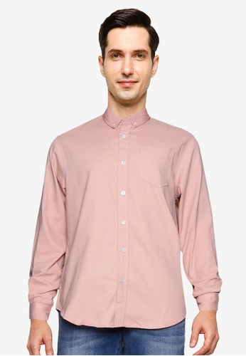 Brave Soul pink Classic Long Sleeves Shirt BF2B2AA9B9E480GS_1