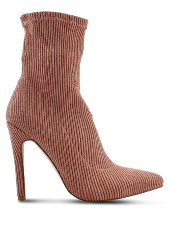 ab3fd0c9a6f5 Shop Public Desire Maxi Sock Fit Stretch Ankle Boots Online on ZALORA  Philippines
