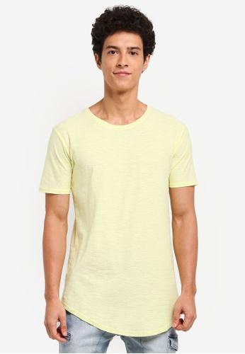 Factorie 黃色 短袖素色長版T恤 C19CAAA925F8FCGS_1