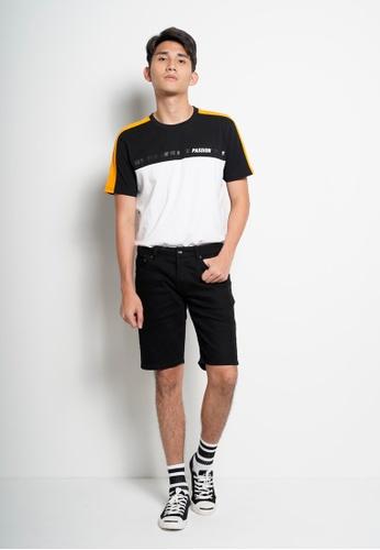 Hi Style black Denim Bermuda Shorts 16C8FAA0947EDBGS_1