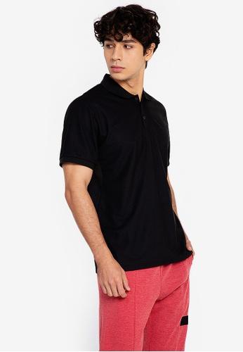 ZALORA ACTIVE black Boxy Polo Shirt C58D5AAA33E046GS_1