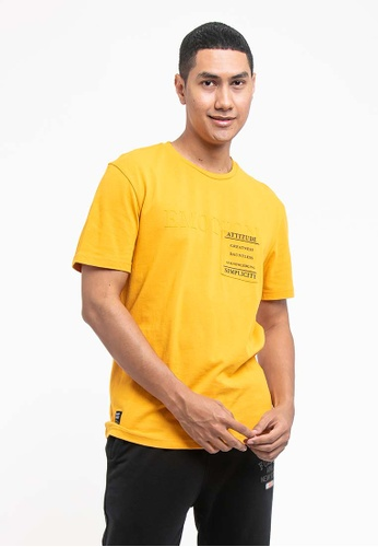FOREST yellow Forest Cotton Linen Patterned Fashion Crew Neck Tee - 621152 F9EBBAA5DCAFD6GS_1