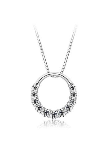 YOUNIQ silver YOUNIQ D'Lord 925 Sterling Silver Necklace Pendant with Silver Cubic Zirconia YO999AC19CZKMY_1