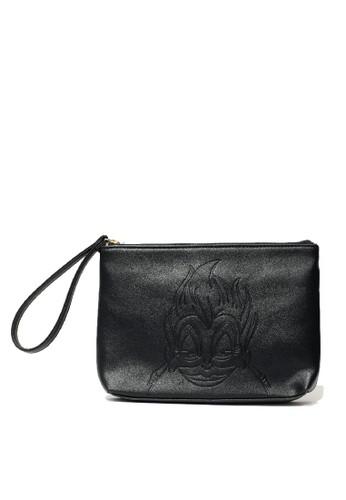 Gracegift Disney black Ursula embossing hand pouch 8E888KCD8D2E7DGS_1