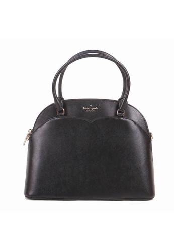 KATE SPADE black Kate Spade Medium Payton WKRU7093 Dome Satchel Bag In Black B1AA8ACF2578B6GS_1