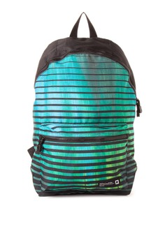 Men's Backpack with Printed Panel and Front Pocket