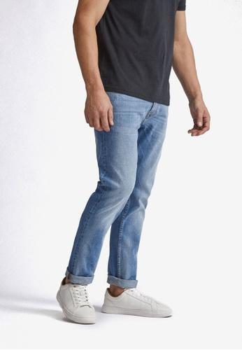 Burton Menswear London blue Mid Wash Slim Jeans 454E7AA45E92BBGS_1