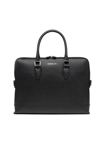 Maverick & Co. black Maverick & Co. Metropolitan Leather Briefcase (Black) 2522CAC4083F37GS_1