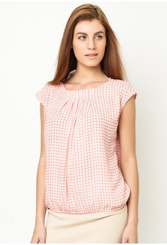 Extended Sleeve Blouse with Pleats