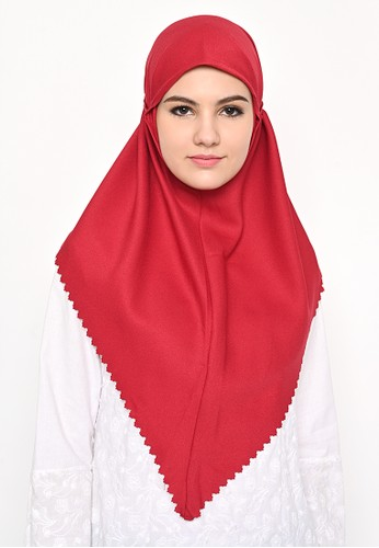 My Daily Hijab red Bergo Sameera Hijab Instant Lasercut Red Violet D1D42AA215340EGS_1