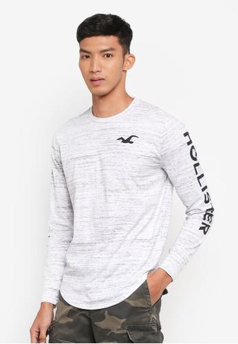 Hollister 灰色 Print Logo T-Shirt CD55EAA4E1A67AGS_1