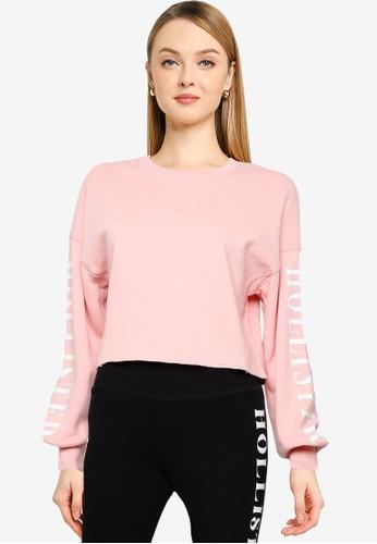 Hollister pink Crew Neck Sweatshirt B1C5CAA8753E88GS_1