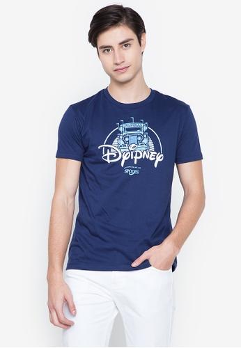 Spoofs navy Dyipney-Nblue T-Shirts C6B27AAAB40312GS_1
