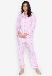 FEMINISM pink Longsleeve PJ Set 10D84AA1B9ADF7GS_1