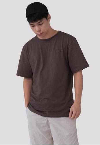 We Enjoy Simplicity brown 'We Enjoy Simplicity' Unisex Tee (Brown) 527D7AA95B3BF2GS_1