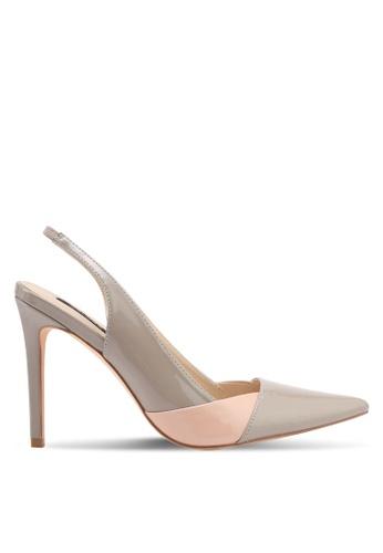 ZALORA beige Double Color Detail Heels 33EC7SH9BE9DA0GS_1