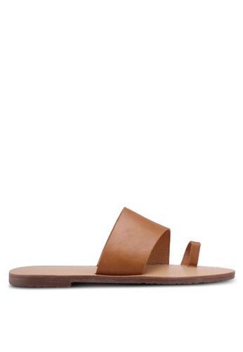 Something Borrowed beige Basic Toe Strap Sandals F4F13SHA2BB1ABGS_1