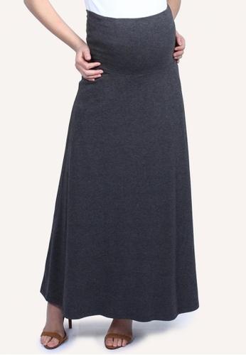 9months Maternity grey Grey Roll Panel Long Skirt 304CBAAABCFD0FGS_1