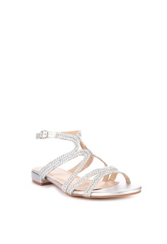 7f11d18faf15de CLN Spinel Metallic Strappy Flat Sandals Php 999.00. Sizes 35 36 37 38 39