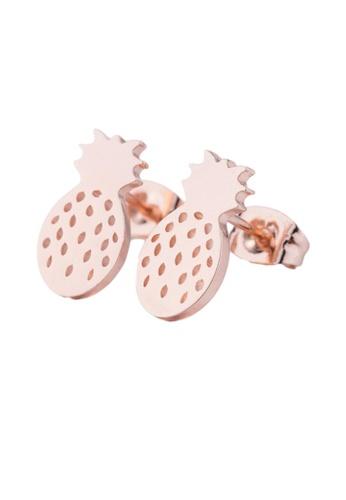 Kings Collection gold Sweet Pineapple Earrings (KJEA20053) D611EAC113B8C2GS_1