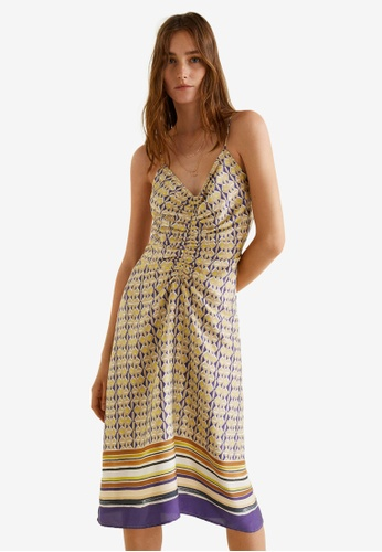 Mango purple Scarf-Print Long Dress 66B51AA154051AGS_1