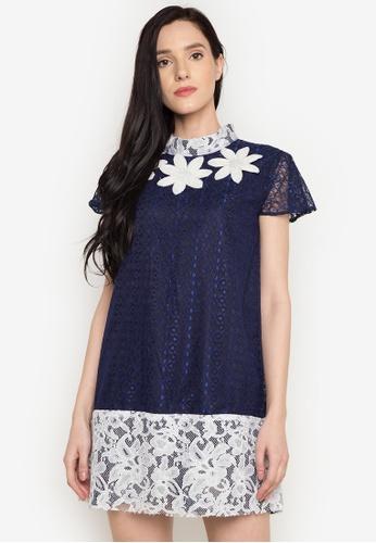 NEW ESSENTIALS blue Rhett Eala Lace Dress NE239AA0JD3RPH_1