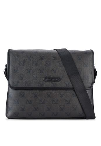 Playboy black Playboy Messenger Bag PL371AC54WGZMY_1