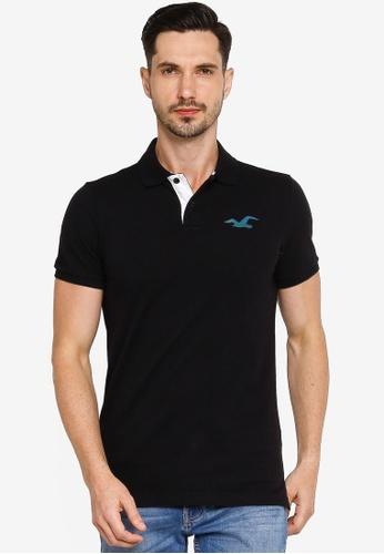 Hollister black Core Exploded Icon Polo Shirt 6C4FEAA5645DA4GS_1