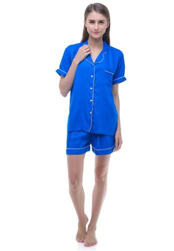 Madeleine's Blue Electric Short Pajamas