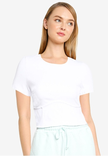 Supre white Tiffany Under Bust Top FF942AA96FFF8AGS_1