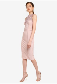 cfaa2f331dc1 10% OFF Lipsy Nude Artwork Bodycon Dress S  159.90 NOW S  143.90 Sizes 6 8  10 12 14