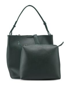 89d5bd74b51 VINCCI green Faux Leather Tote Bag C08C1AC8A30E68GS 1
