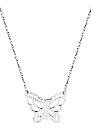 SC Tom Silver silver Butterfly Center Chain Necklace-CC080 SC872AC70ITHPH_1