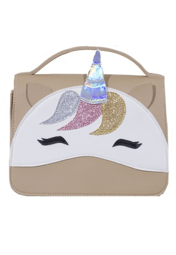 Adkidz beige Adkidz Unicorn Crossbody Bag B96CBKC6DBBE84GS_1
