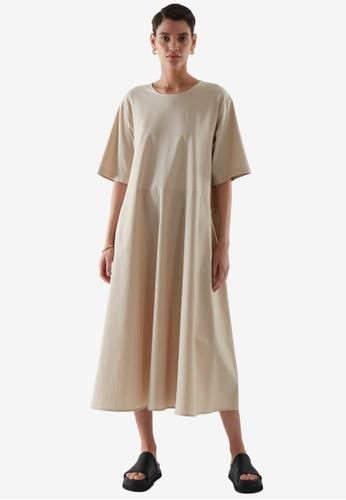 COS beige Loose T-Shirt Dress AB2DFAA6053FC8GS_1