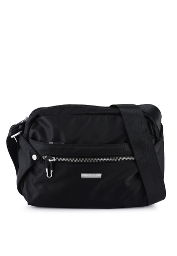 NUVEAU black Lightweight Nylon Sling Bag BE293AC859E50DGS_1