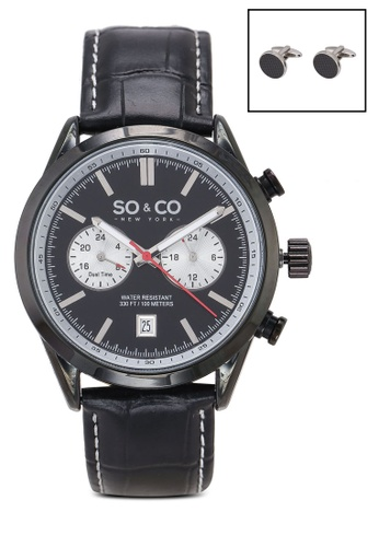 SO&CO black Monticello 5056.2 Watch Set 2A29CACB92F3B1GS_1