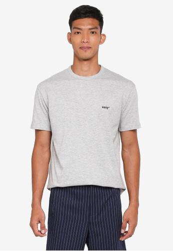 Topman grey Grey 'Easy' T-Shirt 71C8BAA0F20E0BGS_1