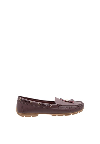 SEMBONIA red Women Synthetic Leather Loafer E7738SHD6BB803GS_1