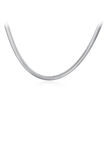 Glamorousky silver Simple Snake Necklace D0178AC09D0A64GS_1